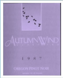 Autumn Wind Vineyard 19987 Oregon Pinot Noir
