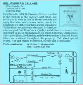 Bellfountain Cellars (1989-1990's)