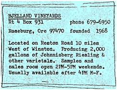 Bjelland Vineyards