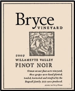 Bryce Vineyard 2002 Willamette Valley Pinot Noir