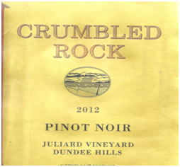 A 2012 Pinot Noir vintage from Juliard Vineyard