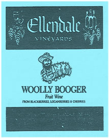 Ellendale Vineyards Wooly Booger Fruit Wine label