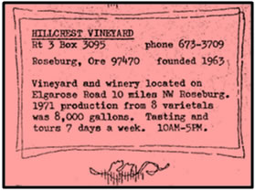 Hillcrest Vineyard: Oregon's oldest continuously operating estate winery