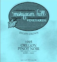 Marquam Hill Vineyards 1995 Oregon Pinot Noir