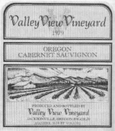 Valley View Vineyard 1979 Oregon Cabernet Sauvignon